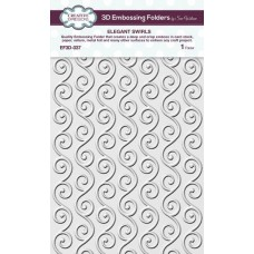 Creative Expressions 3D Embossing Folder - Elegant Swirls - DISPATCHING FRIDAY 25th SEPTEMBER