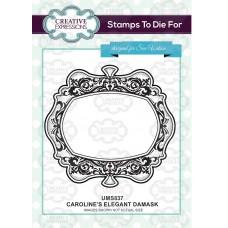 Caroline's Elegant Damask Stamp