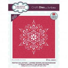 Sue Wilson - Layered Snowflake Background Craft Die