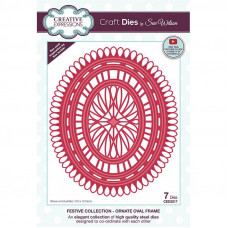 Sue Wilson - Ornate Oval Frame Craft Die