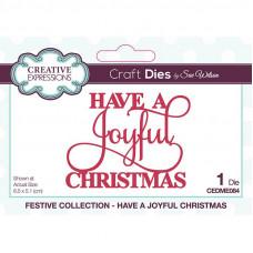 Sue Wilson - Mini Expressions Have A Joyful Christmas Craft Die