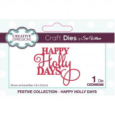 Sue Wilson - Mini Expressions Happy Holly Days Craft Die