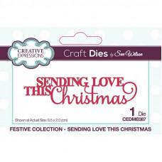 Sue Wilson - Mini Expressions Sending Love This Christmas Craft Die