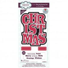 Sue Wilson - Big Bold Words Christmas Craft Die & Stamp Set