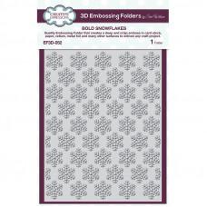 Sue Wilson -  Bold Snowflakes Embossing Folder