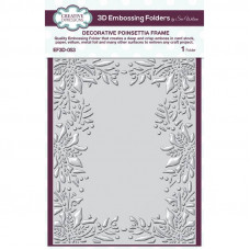 Sue Wilson -  Decorative Poinsettia Frame Embossing Folder