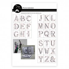Two Jays - Floral Alphabet Clear Stamp Set