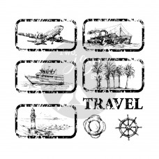 Two Jays - Vintage Travel Stamps - Travel Tags