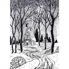 Two Jays Christmas Stamps - Cottage in the Woods
