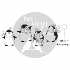 Two Jays Christmas Stamps - Penguins