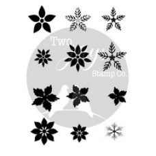 Two Jays - Finger Stamp - Festive Flowers Stamps