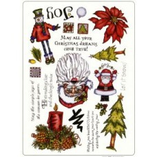 Christmas Set 1 A4 Unmounted Die Plate