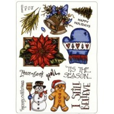 Christmas Set 2 A4 Unmounted Die Plate