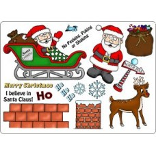 Umount I Believe in Santa Clause A5 Stamp Plate