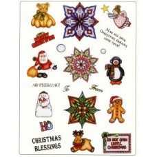 Christmas Medallion Set 1 A4 Unmounted Die Plate