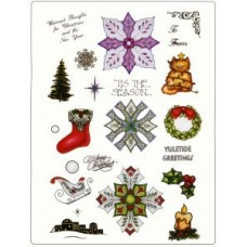 Christmas Medallion Set 2 A4 Unmounted Die Plate