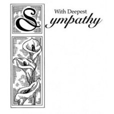 With Sympathy Pre Cut Stamp