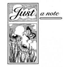 Just a Note Pre Cut Stamp