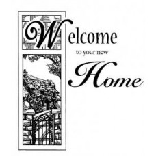 Welcome Home Pre Cut Stamp