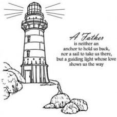Lighthouse 2 Pre Cut Stamps