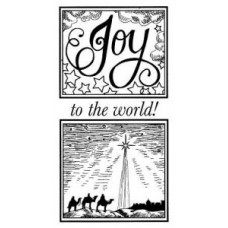 Joy to the World Pre Cut Stamp