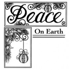 Peace on Earth Pre Cut Stamp