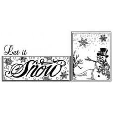 Let it Snow Pre Cut Stamp