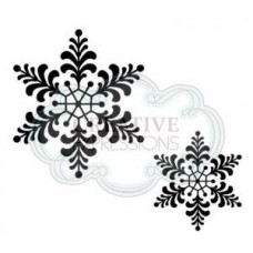 Feathery Snowflake Set 2 pre Cut Stamps