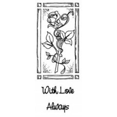 Rose Entwined Set 2 Pre Cut Stamps