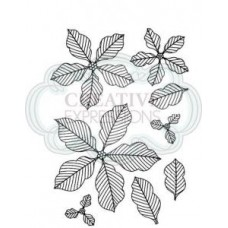 Pinstripe Poinsettia Set 8 Pre Cut Stamps