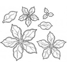 Shaded Poinsettia Pre-Cut Stamps