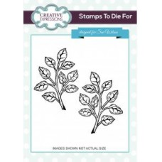 Shaded Orange Blossom Leaves Pre Cut Stamp