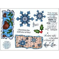 Umount Snowflakes & Music A5 Stamp Plate