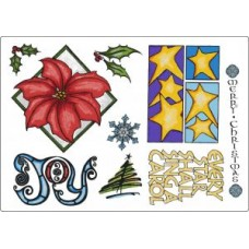 Umount Traditional Christmas 1 A5 Stamp Plate