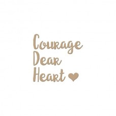 Spellbinders Glimmer Hot Foil Plate Courage Dear Heart