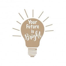 Spellbinders Glimmer Hot Foil Plate Your Future is Bright