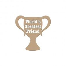 Spellbinders Glimmer Hot Foil Plate Worlds Greatest Friend