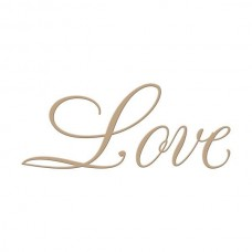 Spellbinders Glimmer Hot Foil Plate Copperplate Script Love
