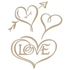 Spellbinders Glimmer Hot Foil Plate Heart & Love