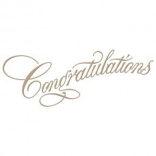 Spellbinders Glimmer Hot Foil Plate Copperplate Script Congratulations