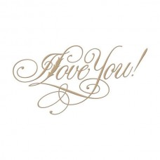 Spellbinders Glimmer Hot Foil Plate Copperplate Script I Love You