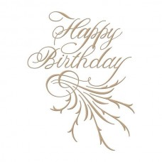 Spellbinders Glimmer Hot Foil Plate Copperplate Script Happy Birthday