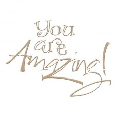 Spellbinders Glimmer Hot Foil Plate You are Amazing