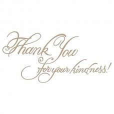 Spellbinders Glimmer Hot Foil Plate Copperplate Script Kindness