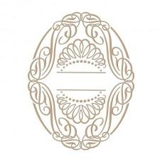 Spellbinders Glimmer Hot Foil Plate Elegant Oval