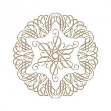 Spellbinders Glimmer Hot Foil Plate Elegant Circle