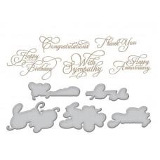 Spellbinders Glimmer Hot Foil Plate Elegant Occasion Sentiments