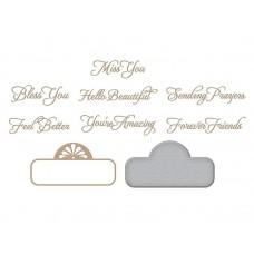 Spellbinders Glimmer Hot Foil Plate Elegant Affirmation Sentiments