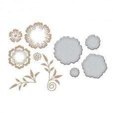 Spellbinders Glimmer Hot Foil Plate Foil Flowers