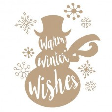 Spellbinders Glimmer Hot Foil Plate Warm Winter Wishes